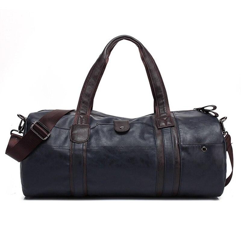 2018 Luxus Männer Leder Reisetasche Vintage Männer Modische Reisetaschen Big Kapazität Braune Umhängetasche