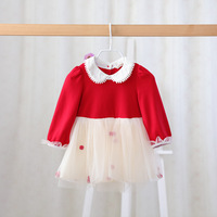 Cute Baby Girl Dress Cotton Children Kids Baby Girls Dresses One Piece Baby Autumn Clothing For