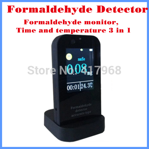 Indoor air quality monitor Formaldehyde Detector Formaldehyde monitor gas detector gas anzlyzer analyseur gaz thermometer clock  цены
