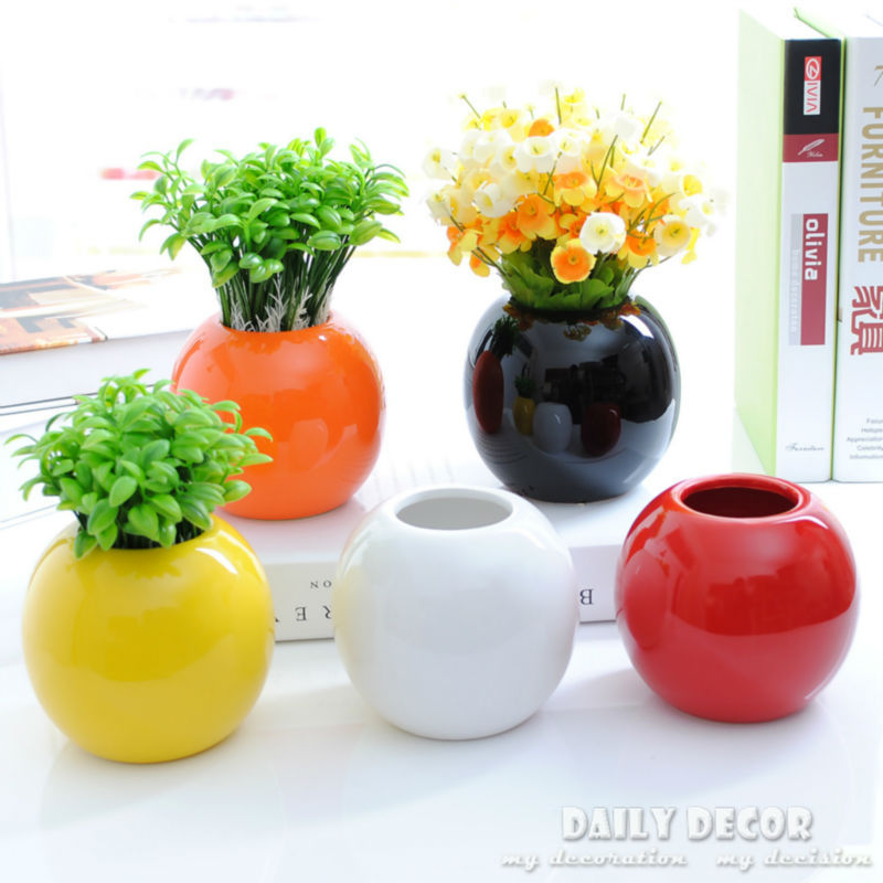 Online Shop 5pcs Modern Simple Small Ball Vases Cheap Miniature