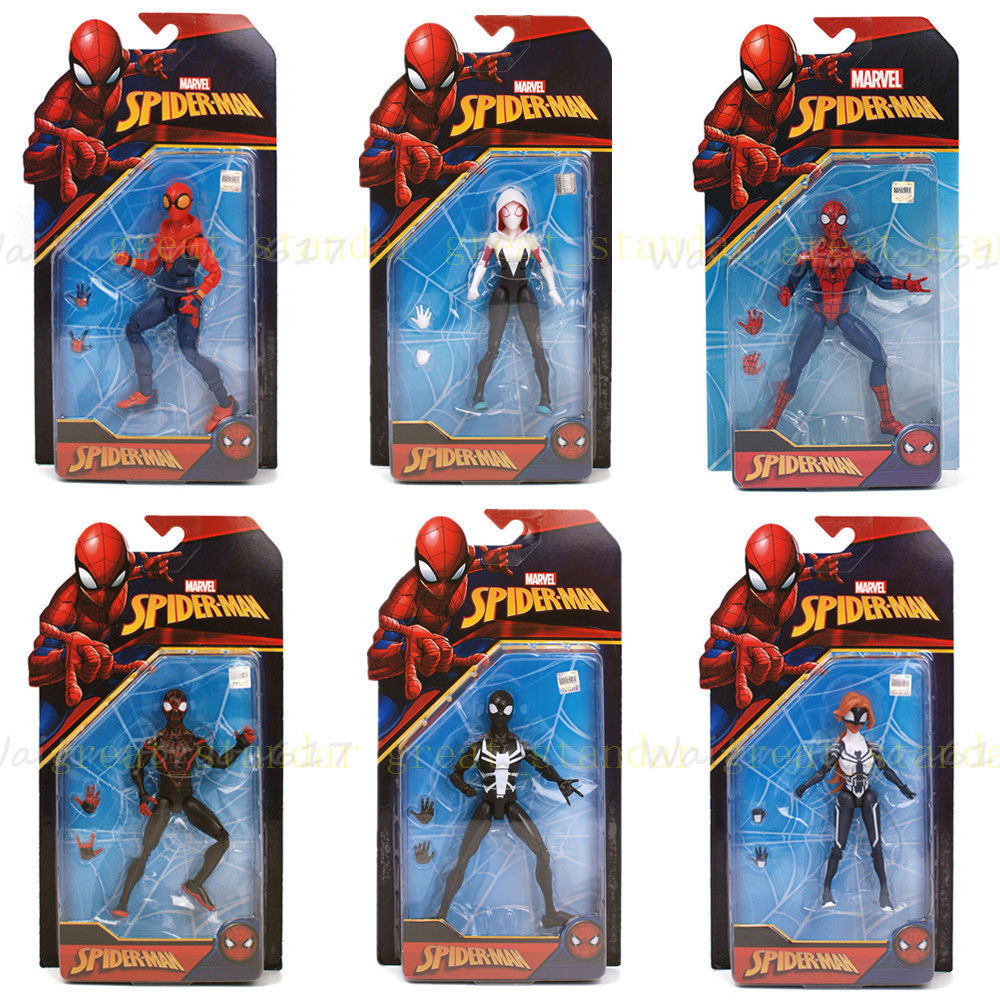 New 6 Spider Man Action Figure Amazing Spiderman Custom Homecoming Anime Figure Collectible Model Toy