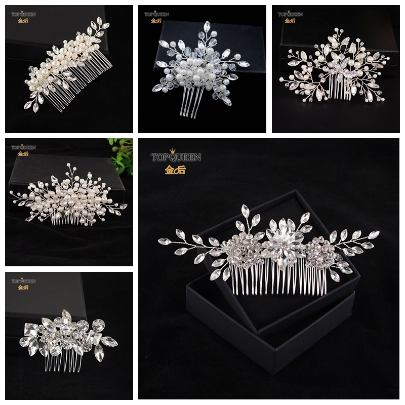 TOPQUEEN HP117 Headpiece Wedding Bridal Hair Accessory Bridal Hair Comb Headpiece Bride Hair Jewelry For Women Classical Floral