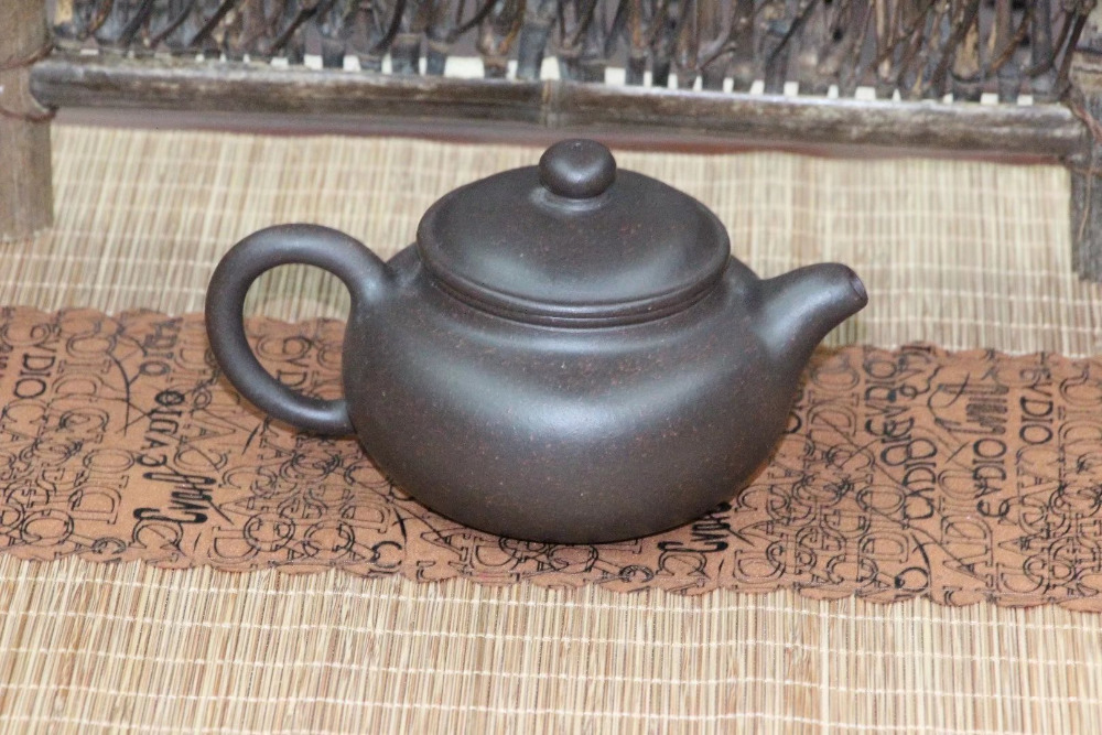 Chinese tea set yixing puer teapot Antique black Zhu mud yi xing pu er tea pot
