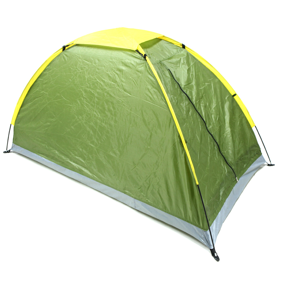 Camping Tent Single Layer Waterproof One Person Tent Beach Tent Outdoor Portable UV-resistant Camping Tent with Carry Bag
