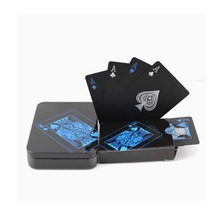Black Plastic Playing Cards Not Fade Card PVC Cartes Plastiques Poker 100% Waterproof Magic Box Baralho Gift Club