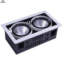 Modern High-end Bean Gall Light Aluminium LED Grille Light AC85-265V for Home Places Corridors Leisure Hotel Rooms LED Light(China)