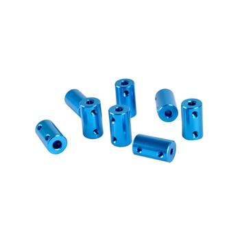 10 Uds D14L25 Acoplamiento de aleación de aluminio diámetro interior 5*5mm 5*8mm 8*8mm impresión 3D parte azul eje Flexible acoplador tornillo parte Motor paso a paso