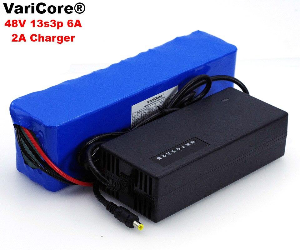 VariCore 48 В в 6ah 13s3p Высокая мощность 18650 батарея Электромобиль Электрический мотоцикл DIY батарея 48 В в BMS защита + 2A зарядное устройство
