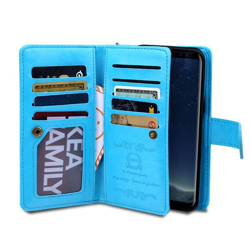 Samsung S8 Plus Case- ի շքեղ դրամապանակի կաշվե - Բջջային հեռախոսի պարագաներ և պահեստամասեր - Լուսանկար 5