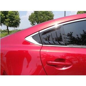 Image 1 - Para Mazda 6 ATENZA 2014, 2015, 2016, 2017, 2018 de fibra de carbono ABS ventana trasera Hanlde triángulo cubierta de cuenco accesorios de estilo de coche 2 uds