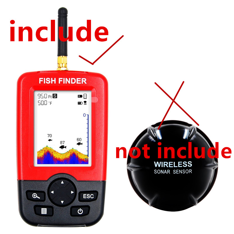 Wireless Fish Finder Echo Sounder Waterproof Fishfinder FOR xj01 fish finder body without sensorWireless Fish Finder Echo Sounder Waterproof Fishfinder FOR xj01 fish finder body without sensor