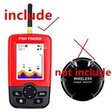Inventor de peixes sem fio echo sonder fishfinder à prova dwireless água para xj01 corpo inventor de peixes sem sensor