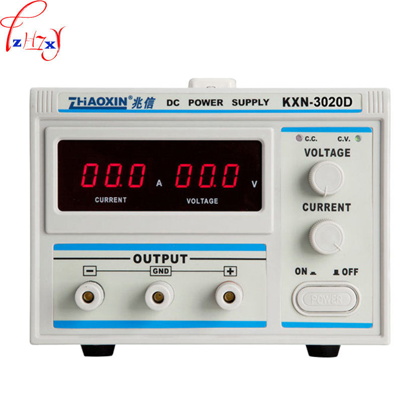 New desktop high power DC stabilized voltage adjustable power supply KXN-3020D LED digital display DC power supply 220V 1PC kxn 3020d dc power supply 30v20a adjustable power supply 30v 20a led high power switching variable dc power supply 220v