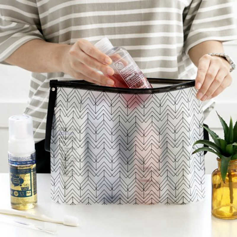 Women Cosmetic Bags PVC Toiletry Bags Fashion Clear Travel Organizer Necessary Beauty Case Makeup Bag Bath Wash Make Up Box цена