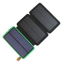 Портативный Запасные Аккумуляторы для телефонов 10000 мАч Перезаряжаемые внешний Батарея Поддержка солнечной зарядки для iPhone Samsung HTC Sony LG.