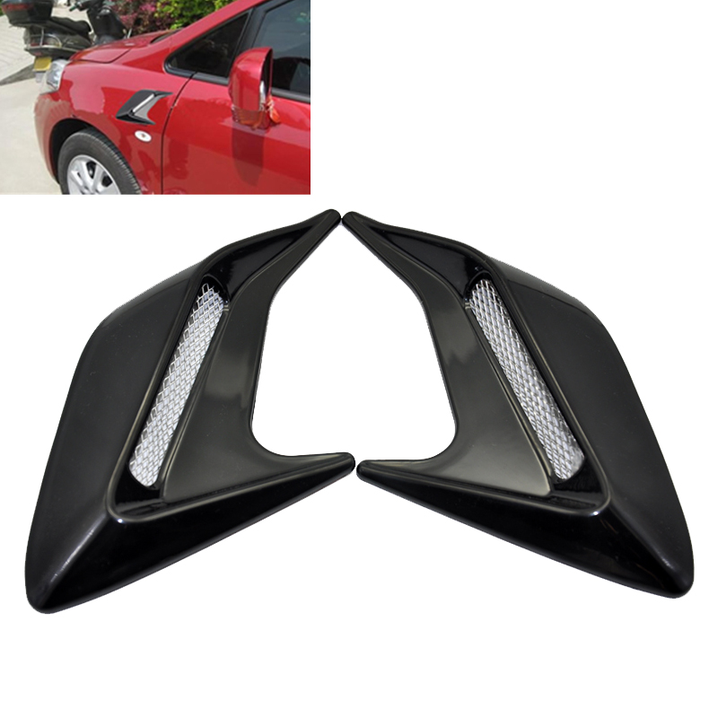 2pcs Car Styling Car Shark gill side vent modification Auto Racing Air Flow Fender Mesh Black Side Decoration Sticker 3M Tape gill hasson positive thinking