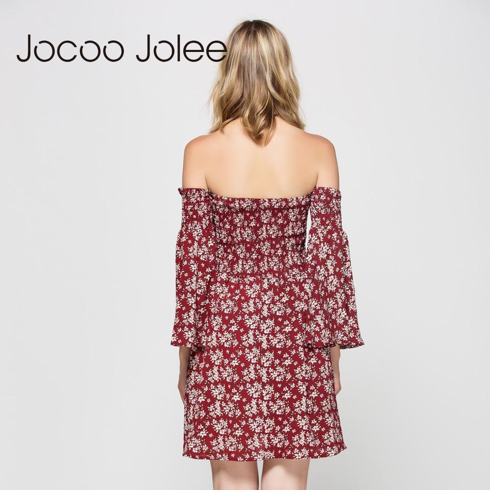 Jocoo Jolee Qadın Çiçəkli Çap Don Qollu Boyunbağı Qollu - Qadın geyimi - Fotoqrafiya 6