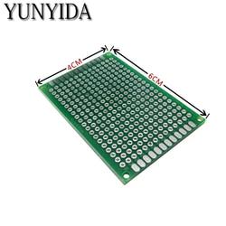 12-04 Бесплатная доставка 5 шт. 4x6 см двухсторонний Прототип PCB универсальная печатная плата