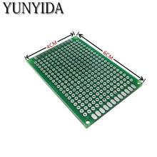 12-04 Бесплатная доставка 5 штук 4×6 см double side Прототип PCB Универсальный печатные платы