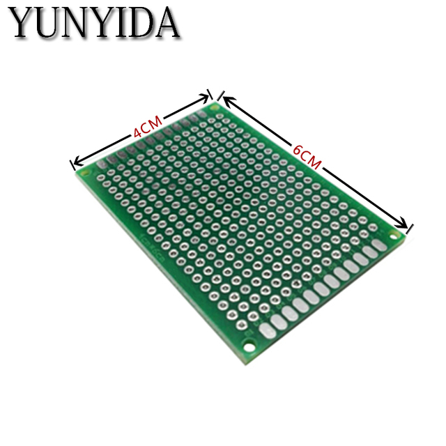 12-04 free shipping 5pcs 4x6cm  Double Side Prototype PCB Universal Printed Circuit Board