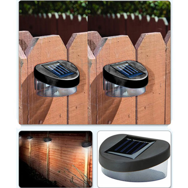 House Home Outdoor Garden Yard Path Fence Landscape Mount Solar Ni-MH Powered 2V Power 2LED Lamp Light Garden Ornaments Decor