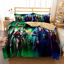 HELENGILI 3D Bedding Set The Avengers Movie Collection Print Duvet Cover Bedclothes with Pillowcase Bed Home Textiles