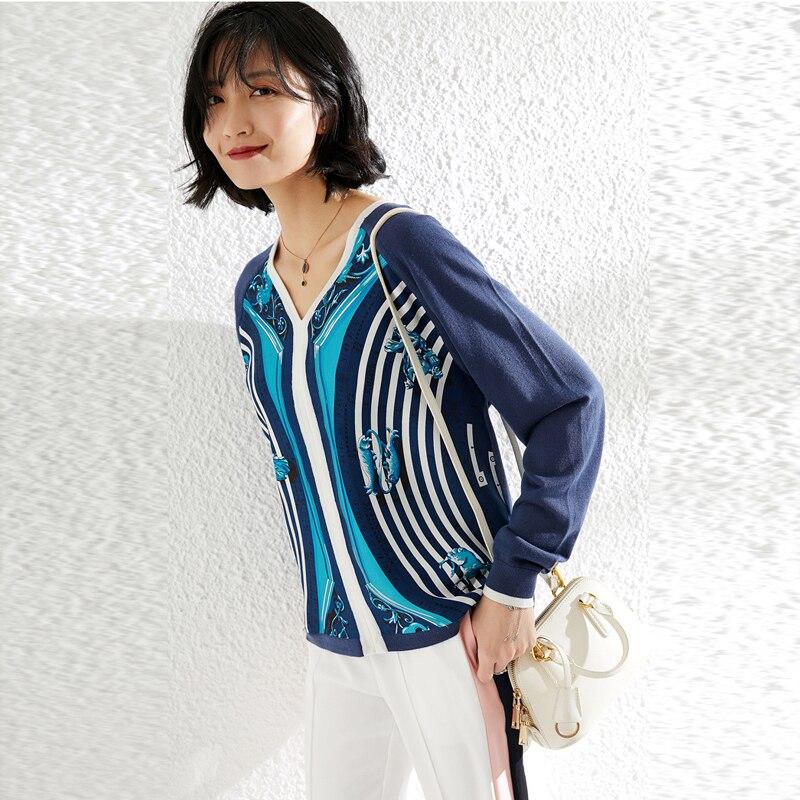 Impression soie tricoté pull piste chandail femmes chandails Harajuku Sherpa sueter mujer frange chandail coréen Top fashionnova