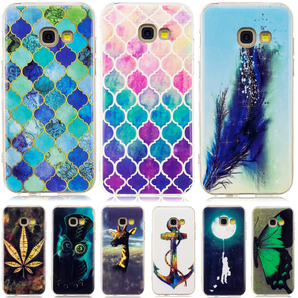 For Samsung Galaxy A3 A5 A7 2017 Case Glossy TPU Back Cover Case For Galaxy A320 A520 A720 Silicone Soft Protective Phone Bag