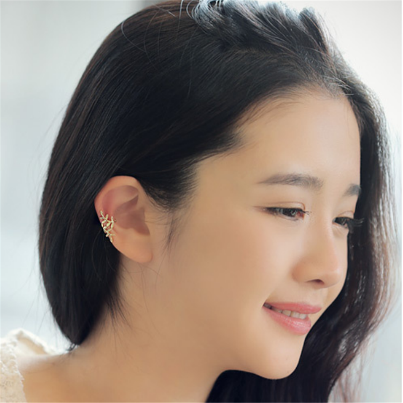 Nữ Trang Sức Thời Trang Nữ Cá Tính Lây Lan Leaf Ear Clip, Không Xỏ Tai, Một