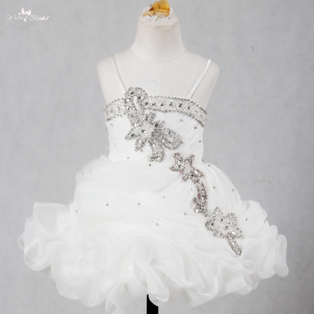 FG52   Flower     Girl     Dresses   For Weddings Ivory Organza Ball Gowns For   Girls   Pageant   Dresses