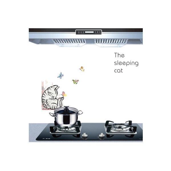 Самоклеющиеся обои для кухни из алюминиевой фольги, наклейки для кухонного шкафа, маслостойкие водонепроницаемые Мультяшные наклейки на стену - Цвет: Q