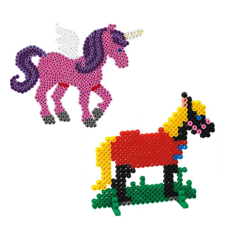 Оптовая продажа красный 10000 шт. pegboard Hama горох Бусины головоломки DIY образования Игрушечные лошадки подарок для детей Бесплатная доставка