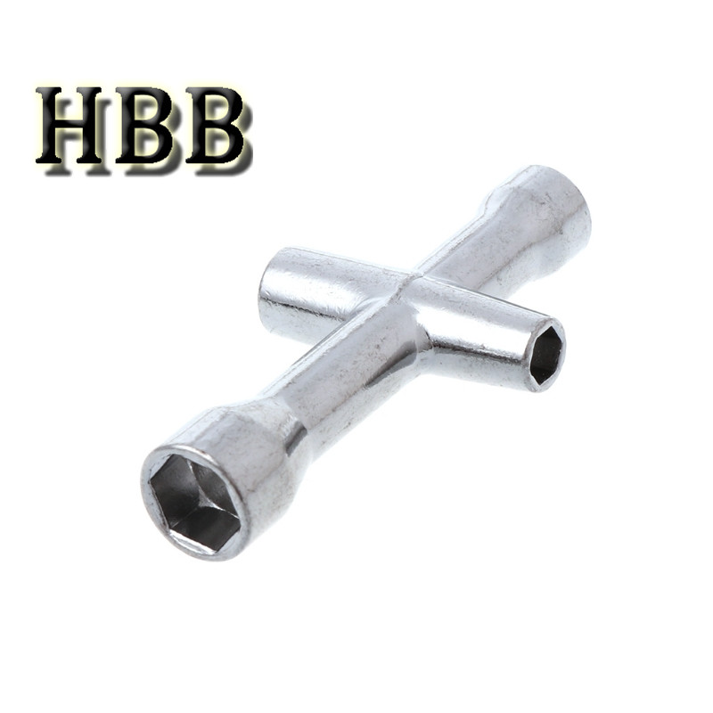Toys Accessory 4/5/5.5/7mm Cross Wrench Sleeve for Spanner M4 RC HSP 80132 For Model Car Wheel Tool(China)