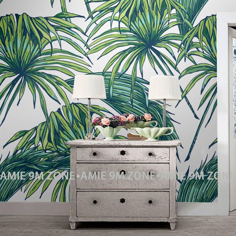 Kitchen Wallpaper Green: Tuya Art Kitchen Wallpapers Palm Leaf Matt Finish Green