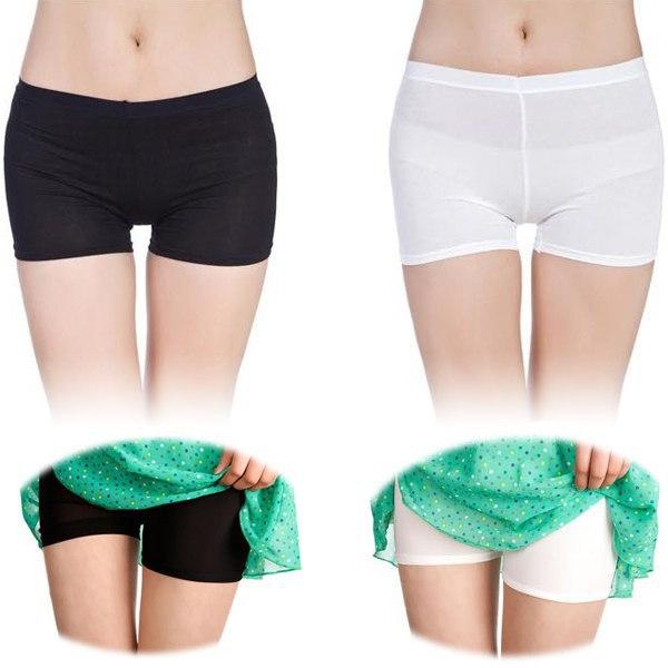 bf6deafefffc Women Sexy Sport Seamless Safety Shorts Leg Basic Plain Tights Pants ...