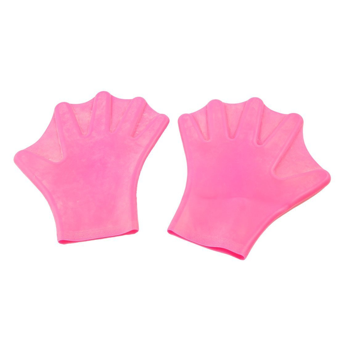 SEWS Pair Fuchsia Swim font b Swimming b font Dive Paddles Webbed Gloves for Adult