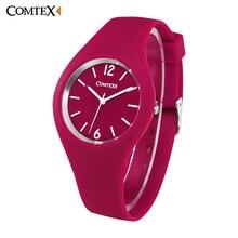 Relojes Mujeres Comtex marca Casual relojes de cuarzo relojes mujer mujeres relojes deporte de los hombres Del Deporte Del Silicón relojes niños reloj zegarek