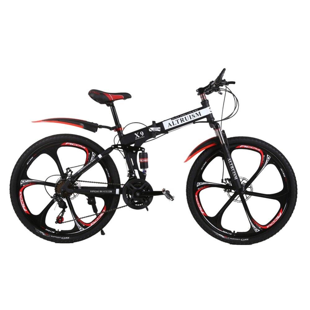 L'ALTRUISME X9 Bicicletas VTT 21 Vitesse Vélo 26 pouces Double frein à disque Vélos
