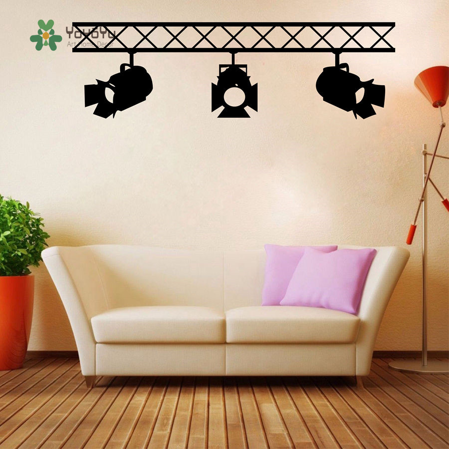 YOYOYU Wall Decal Vinyl Wall Sticker Removeable Spotlights  Cinematography/Film Studio Company Home Decor Sticker YO176 In Wall  Stickers From Home U0026 Garden ...