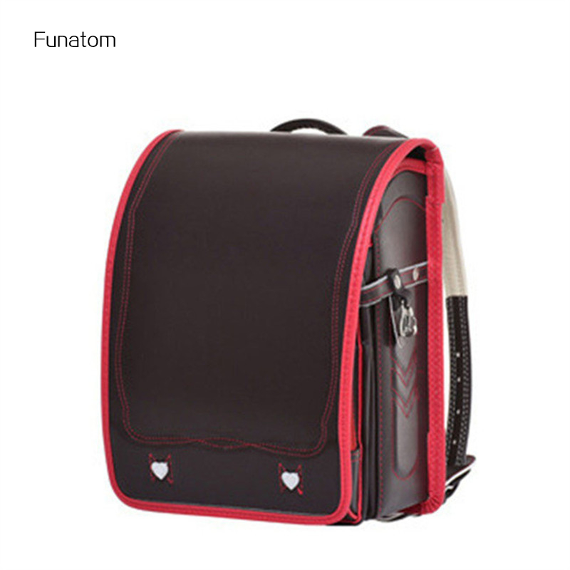 High Quality Children Orthopedic Backpack For Boy And Girl PU Leather School Bags For Kids Book Bags Box Type Satchel 2018