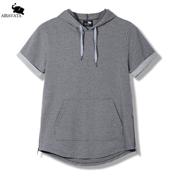 Mens Clothing New 2017 Terry Hoodies Summer Mens Sweatshirts Side Zipper Mens Thin Hoody Classic Kangaroo Pouch Sweatshirts Men