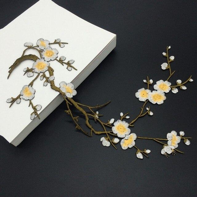 31x22 Cm Plum Kwiaty Naklejki Ubrania Laty Hafty Dekoracji Slubnej