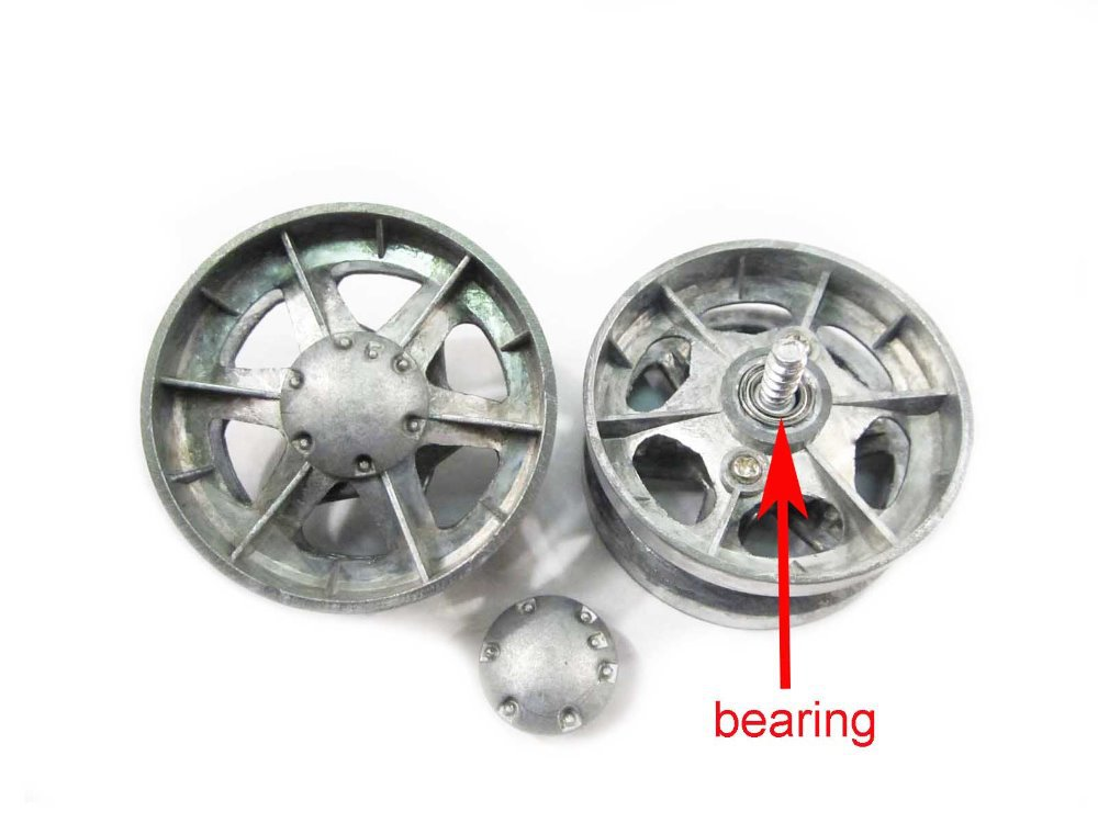 Mato Metal Road Wheels With Bearings Caps For 1//16 HL 3918-1 M1A2 Abrams RC Tank