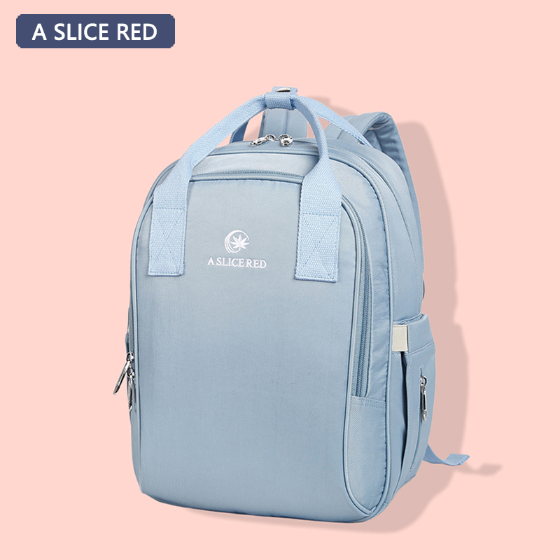 A SLICE RED Nylon Baby Diaper Bag Backpack Mom Stroller Nappy Changing Mommy Maternity Organizer Wet