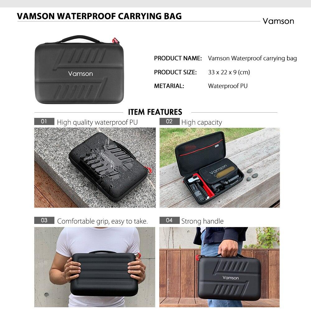 Accesorios para Cámara de Acción Vamson para go pro Hero 7 6 5 4 para Xiaomi Yi 4 K para Sony Nikon juego para DJI OSMO Action VS82 - 3