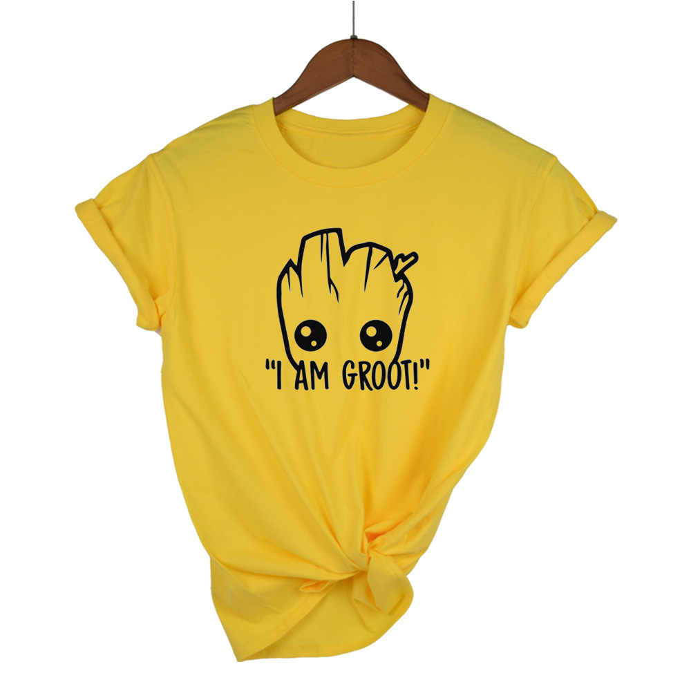 2018 t shirt women Star Wars Anime baby pop groot Summer funny I AM GROOT T Shirt Cool Tops Tees Homme Tshirt