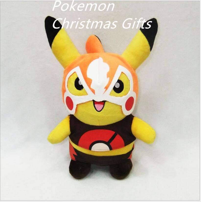 Special Hot POKEMON Child plush toy Pokemon Pikachu Masked Man plush doll toys Children Gift Free