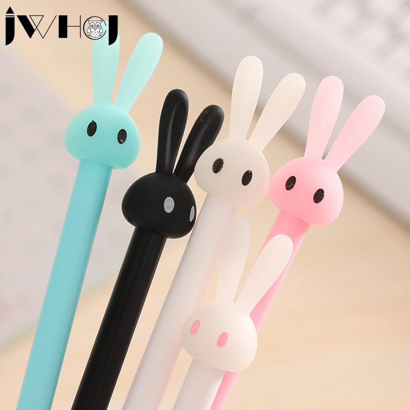 1 pcs JWHCJ New Cute rabbit gel pen writing pens stationery caneta material escolar office school supplies papelaria kids gift