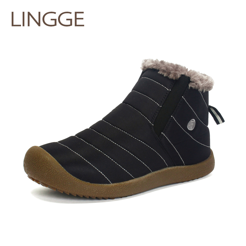 Weweya New Men Winter Shoes Unisex Waterproof Snow Boots Plush Inside Keep Warm Ankle Boots Couple Sneakers Ski Boots Size 48 Always Buy Good Shoes Men's Boots