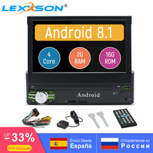 Android 9.0 Universal 1Din Car Radio Stereo 1024x600 Touch Screen 7